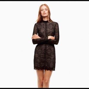 Aritzia Wilfred Janvry Black Lace Mock Neck Dress